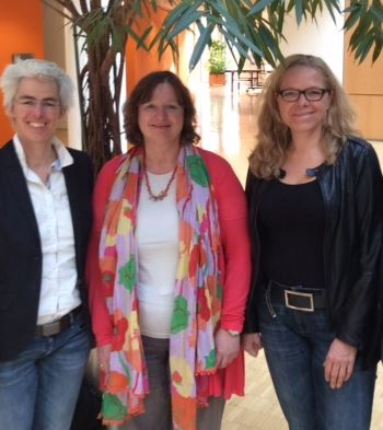 Mit Prof. Klammer (Mitte) und Ulle Schauws (links)