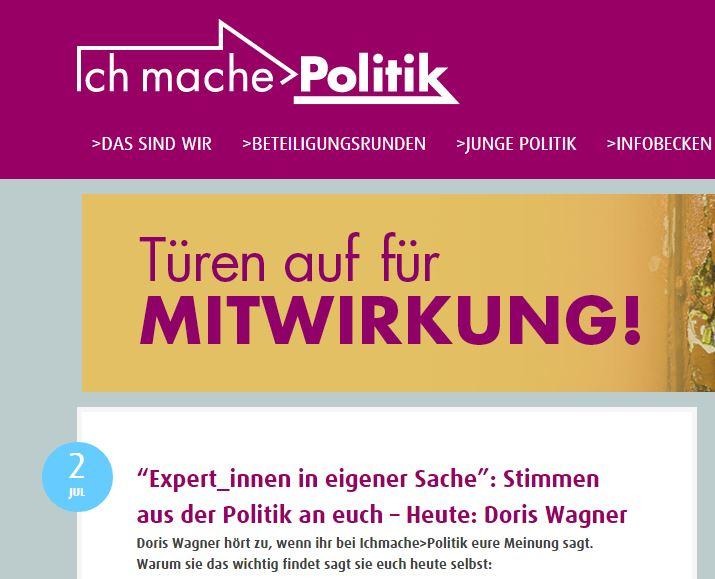 2. Juli 2015 – Mein Blog-Beitrag für Ichmache>Politik