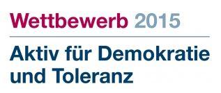 """150717 Logo des Wettbewerbs """"Aktiv fuer Demokratie und Toleranz 2015"""""""