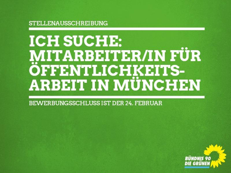 5. Februar 2016 – Stellenausschreibung für München: MitarbeiterIn ÖA