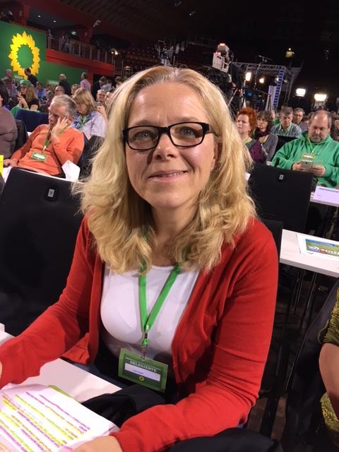 Doris Wagner, Bundestagsabgeordnete, auf dem Bundesparteitag 2016 (BDK)