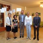 Gespräch mit der Leiterin der Böll Stiftung, Nino Lejava. Mit der dabei Christopher Fronzek von der deutschen Botschaft