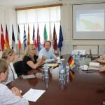 Hauptquartier EUMM in Tiflis. Gespräch u.a. mit Gordon Klussmann, Capacity Enhancement Coordinator