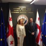 Treffen mit dem ersten stellvertretenden Staatsminister f. europäische u. euroatlantische Integration, Artschil Karaulaschwili