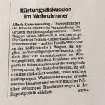 8. Juli 2015 – 'Rüstungsdiskussion im Wohnzimmer'