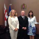 Gespräch mit dem Staatsminister f. Versöhnung u. bürgerliche Gleichstellung, Paata Sakareischwili
